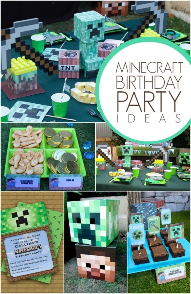 Top notch minecraft themed boy s birthday party for Decoration ideas 7th birthday party