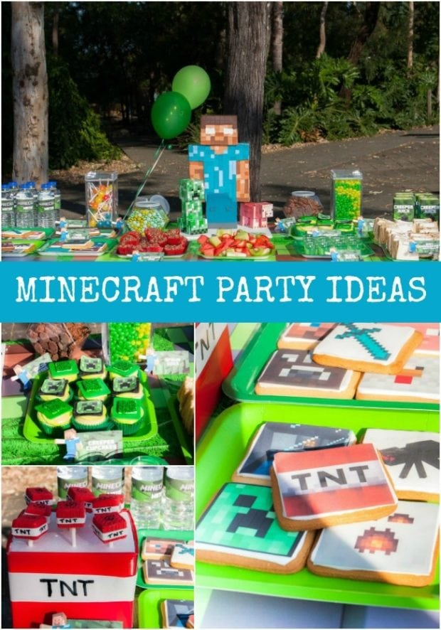 Minecraft Birthday Party Ideas Spaceships And Laser Beams