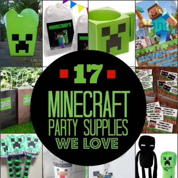 17 Minecraft Party Supplies We Love