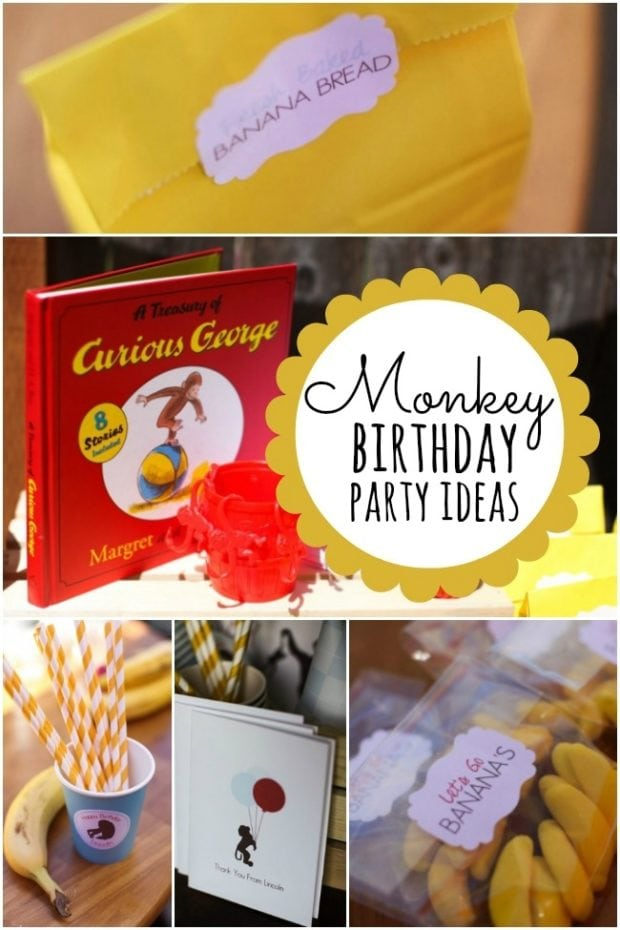 Monkey Themed Birthday Party ideas from Spaceships and Laser Beams
