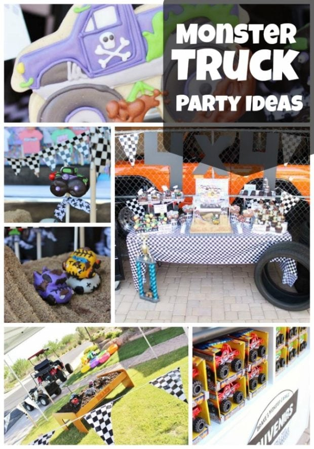 Monster Truck 4th Birthday Party Spaceships And Laser Beams