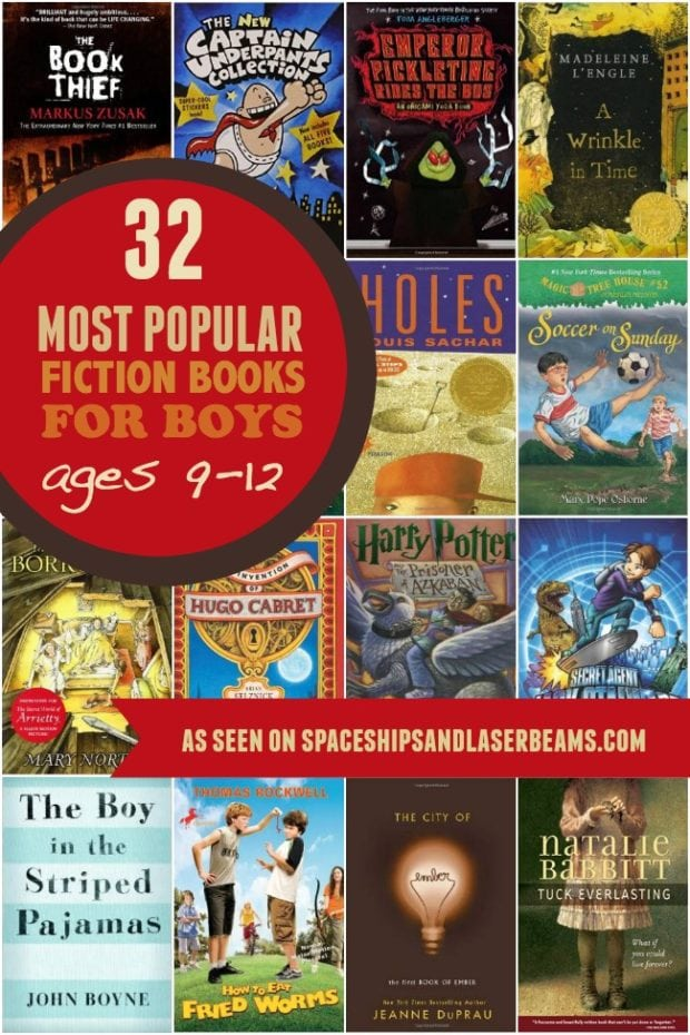 32 Most Popular Fiction Books For Boys Ages 9 To 12