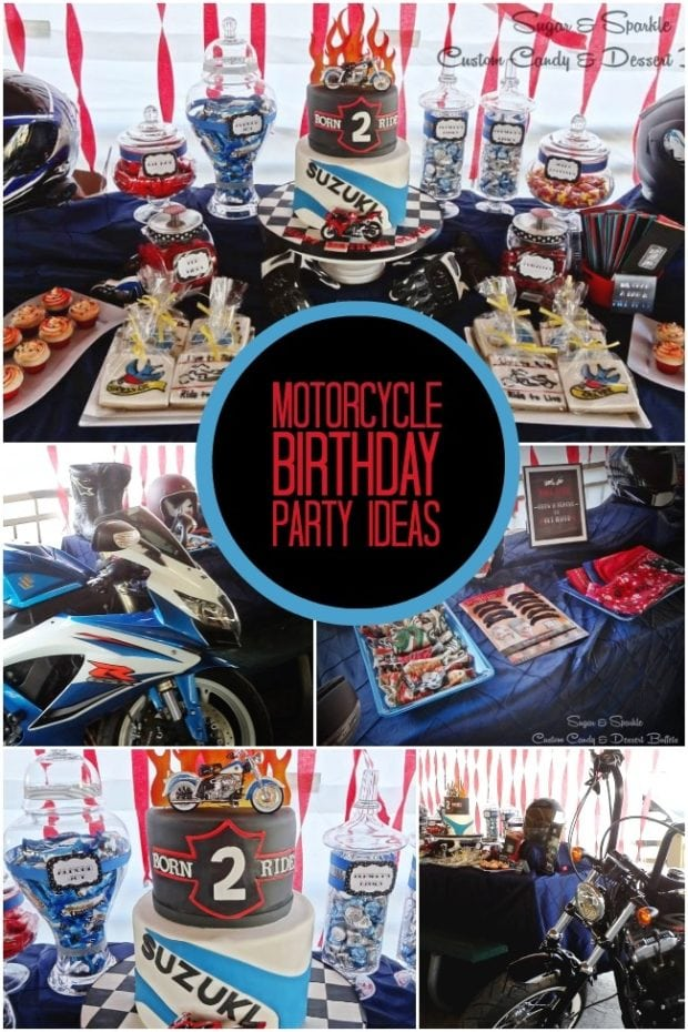 Motorcycle Themed Boy S Birthday Party Spaceships And