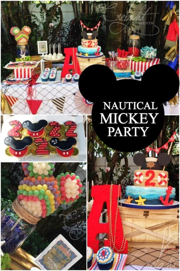 A Nautical Mickey Mouse Boy S Birthday Party Spaceships