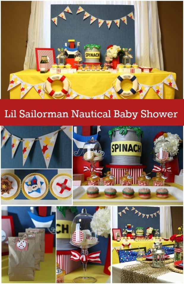 il sailorman nautical baby boy shower spaceships and laser beams