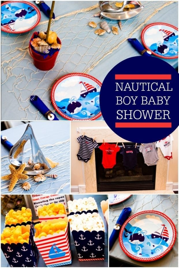 Nautical Themed Boy Baby Shower | Spaceships and Laser Beams