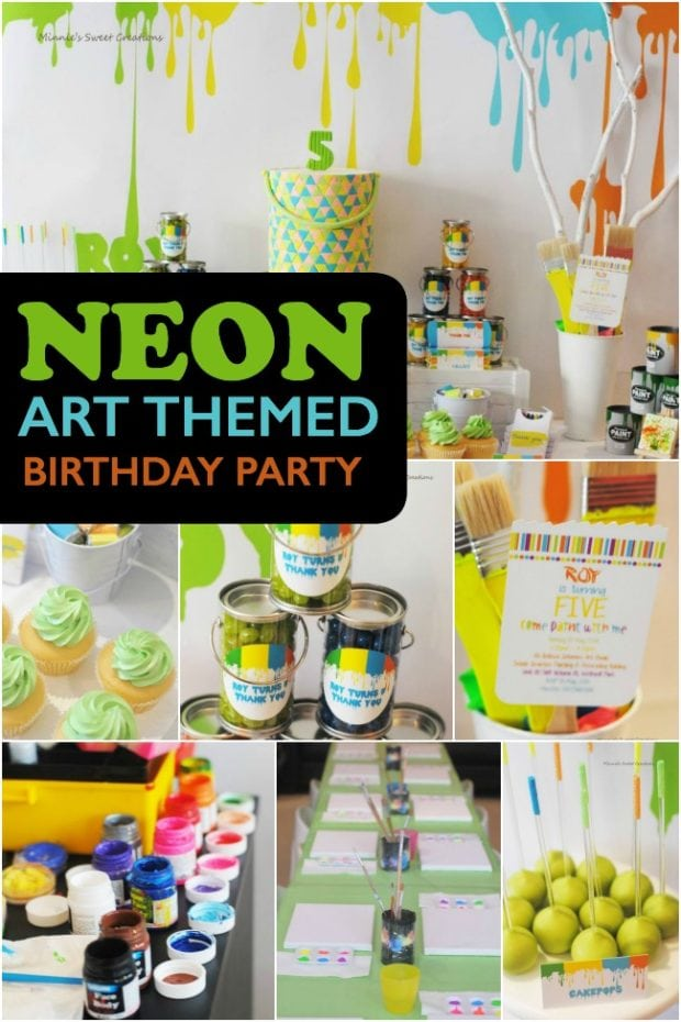 Neon Art Painting Party