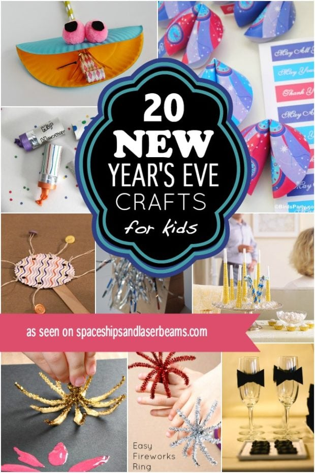 20 New Year's Eve Crafts for Kids | Spaceships and Laser Beams