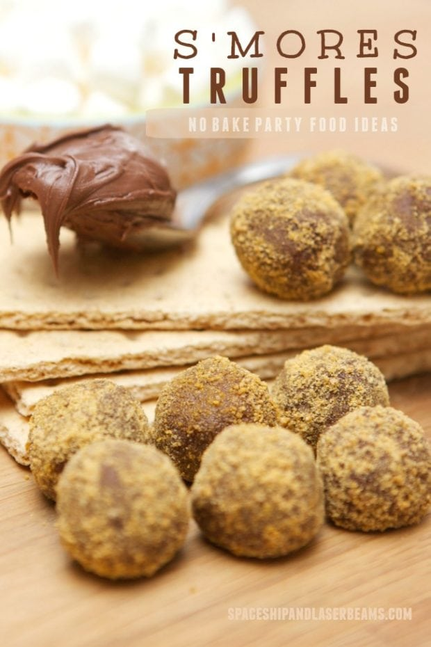 No Bake Smores Truffles Party Food Ideas