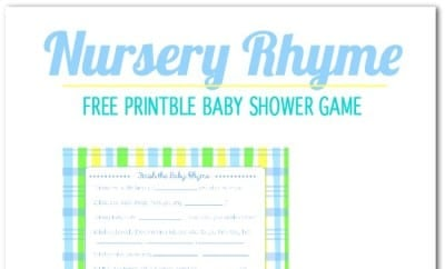 Freebie Friday: Nursery Rhyme Printable Baby Shower Game | Spaceships And  Laser Beams