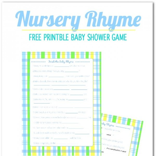 freebie friday nursery rhyme printable baby shower game spaceships
