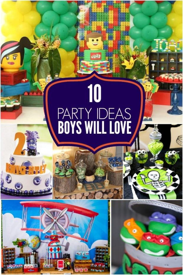 10 Party Ideas Boys Will Love
