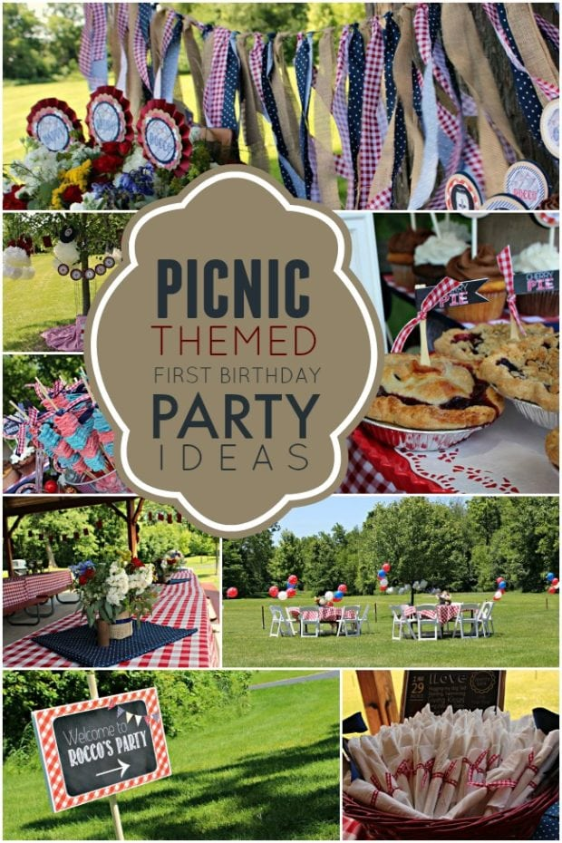 A picnic themed 1st birthday party spaceships and laser for Party entertainment ideas adults