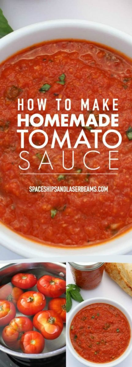 How To Make Homemade Tomato Sauce Spaceships And Laser Beams