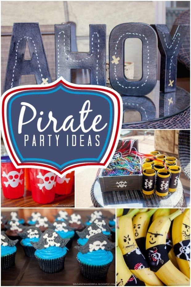 Blue Pirate Birthday Party Ideas For Boys