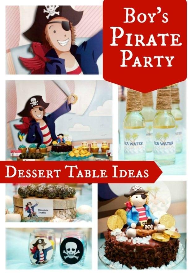 Pirate Birthday Dessert Table Boy Party Ideas