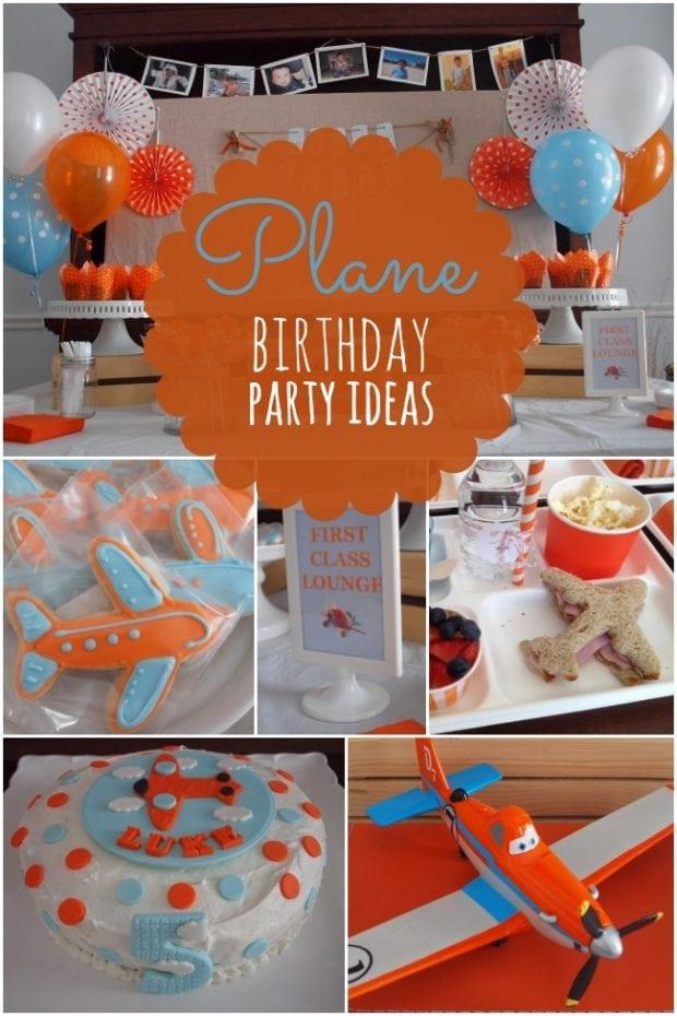 Boy's Plane Themed Birthday Party Ideas