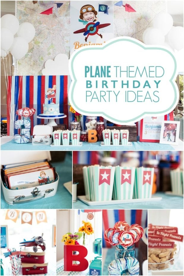 A High Flying Boy S Airplane Birthday Party Spaceships