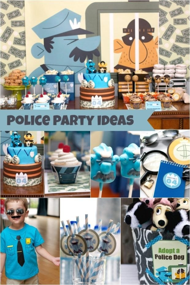 The Heist Sam S Police Themed 4th Birthday Party