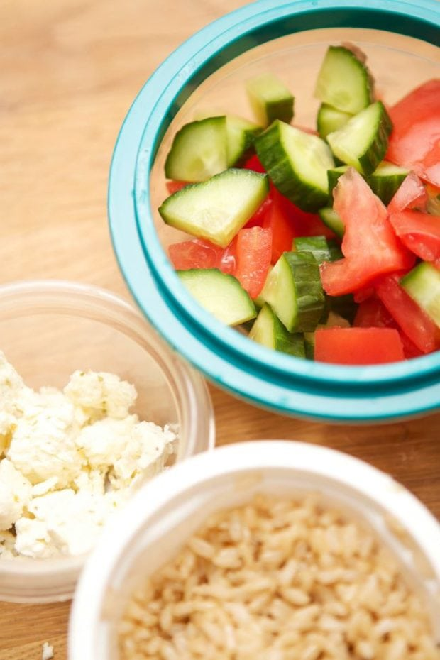 Portable Greek Salad Meal Idea