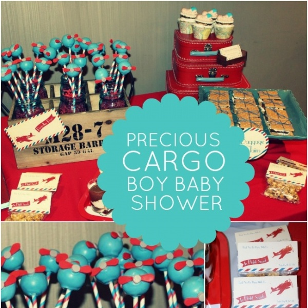 Precious Cargo Themed Boy Baby Shower Spaceships And