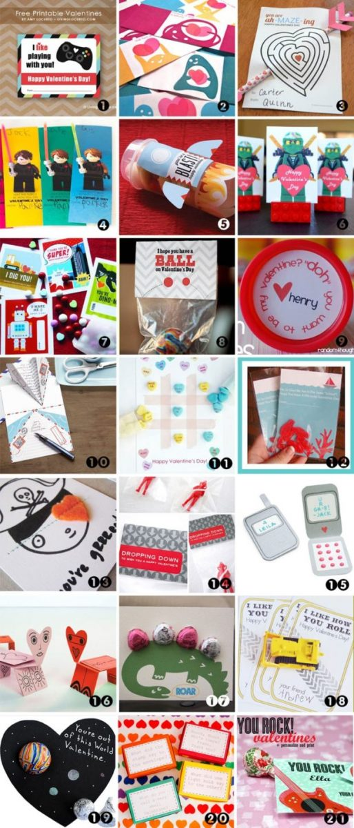 21 FREE Printable Valentine Cards for Boys – Valentines Cards for Boys