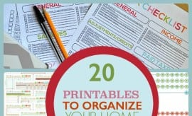 Printables To Organize Your Home Life 1