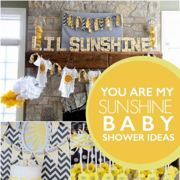 pyou are my sunshine baby shower ideas