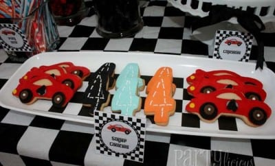Race Car Birthday Party Dessert Table Boys 4th Fourth Birthday 3 7