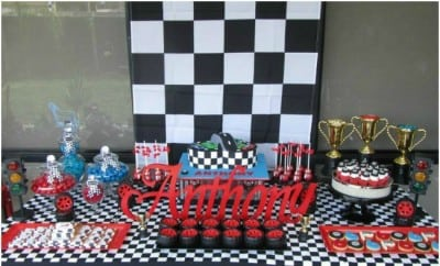 Race Car Themed 6th Birthday Party Spaceships And Laser