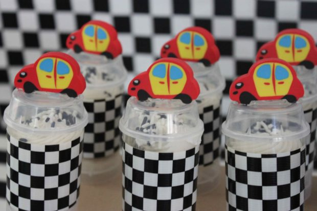 Boy bash vintage race car dessert table spaceships and laser beams - Times table racing car game ...