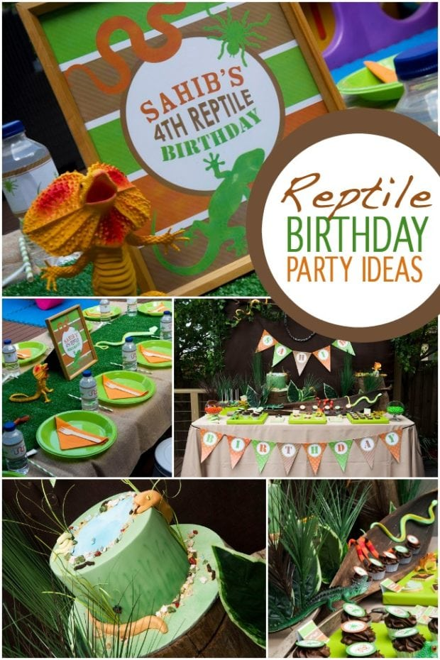Reptile Birthday Party Ideas
