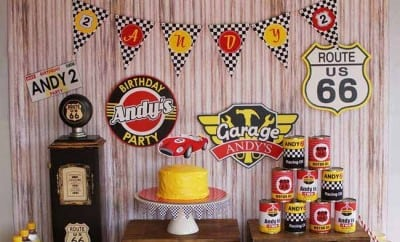 Retro Race Car Party Dessert Table Boy Party Ideas 113938273 N
