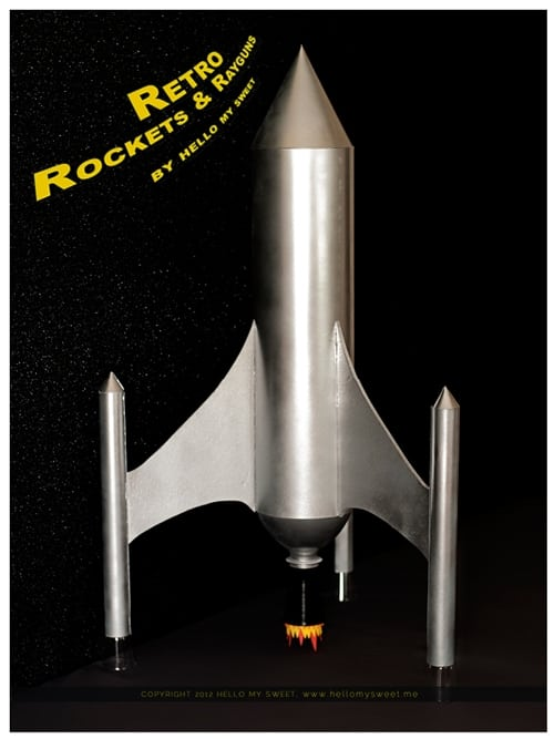 Retro Rocket Ship Space Birthday Party Spaceships And