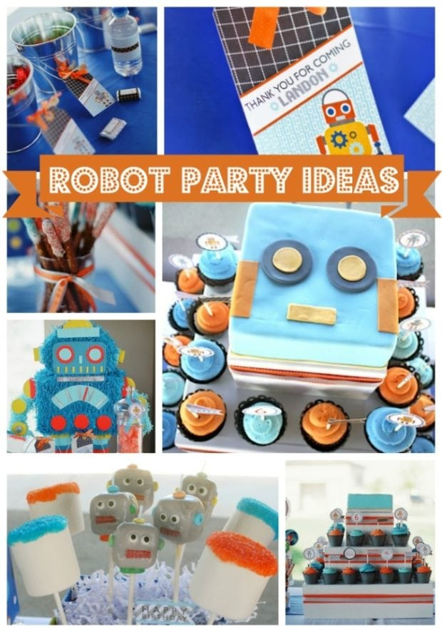 Boy S Robot Themed 6th Birthday Party Spaceships And