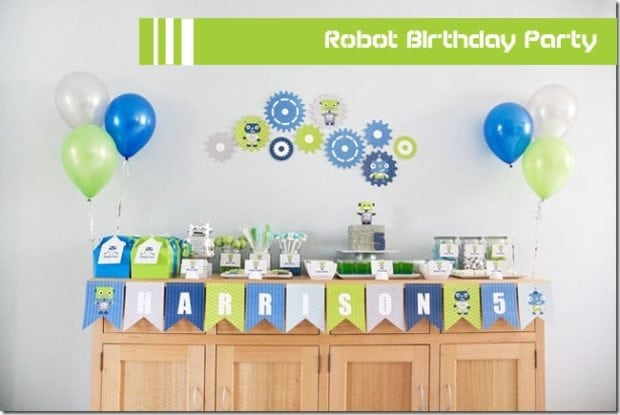 Boy's Robot Birthday Party