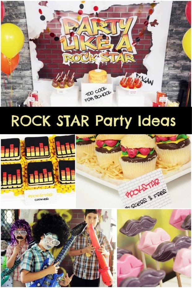Rock Star Birthday Party Ideas Boy