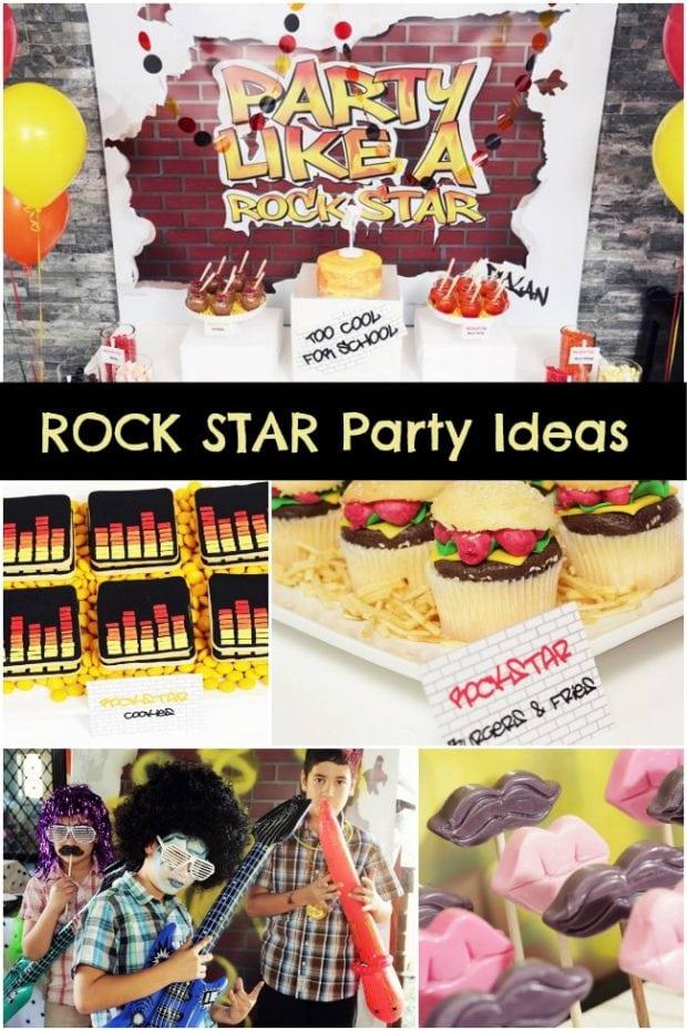 Rock Star Birthday Party Ideas Boy