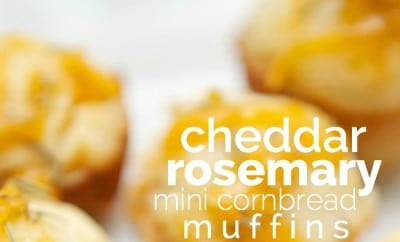 Cheddar Rosemary Mini Cornbread Muffins | Spaceships and Laser Beams
