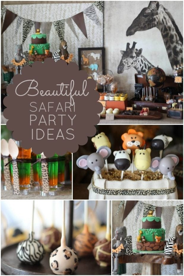 Walk on the wild side with a safari birthday party for African party decoration ideas