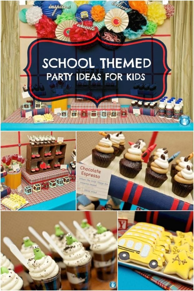 A back to school dessert table spaceships and laser beams for Back to school decoration ideas for teachers