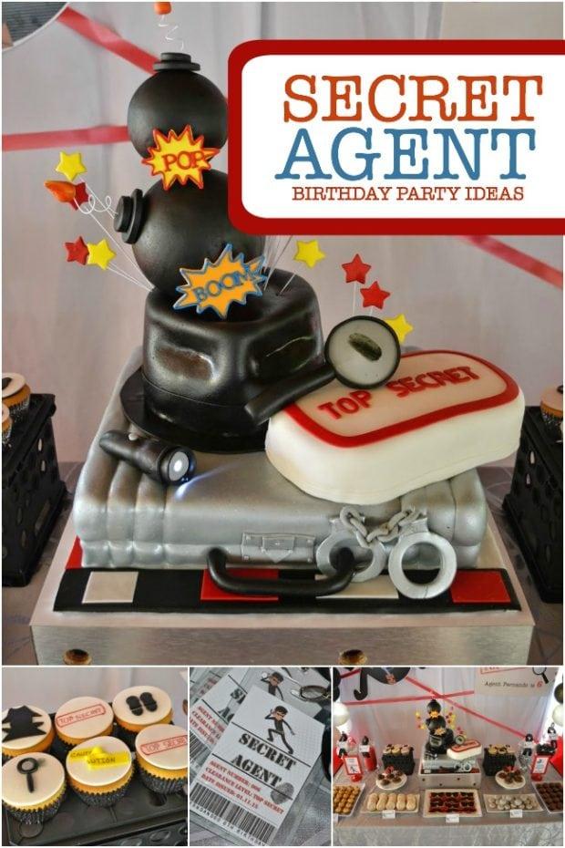 a boy u0026 39 s secret agent birthday party