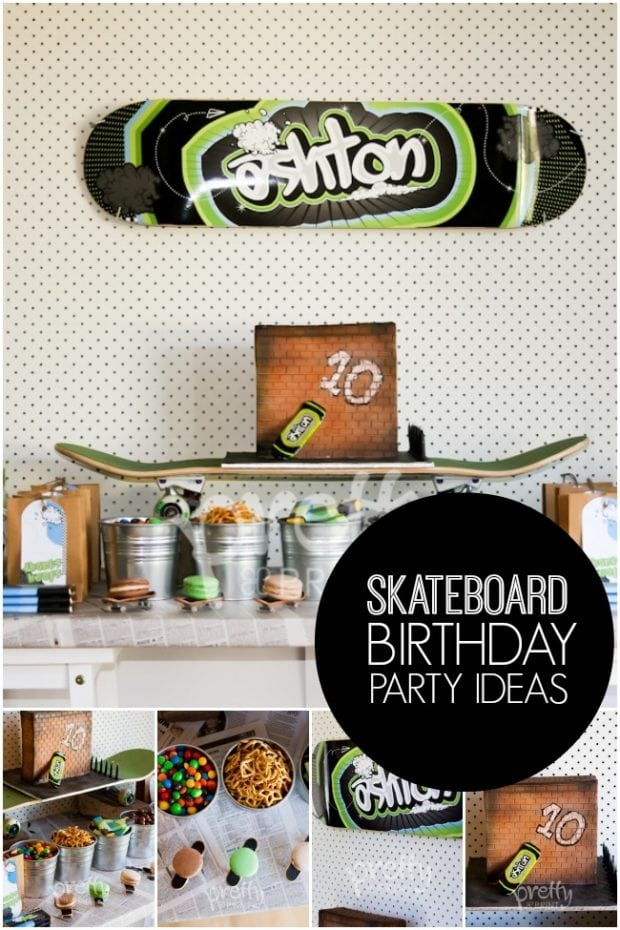 Cool Skateboard Boy S Birthday Party Spaceships And