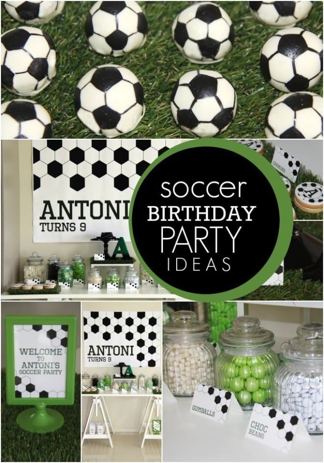 Boys Soccer Themed Birthday Party
