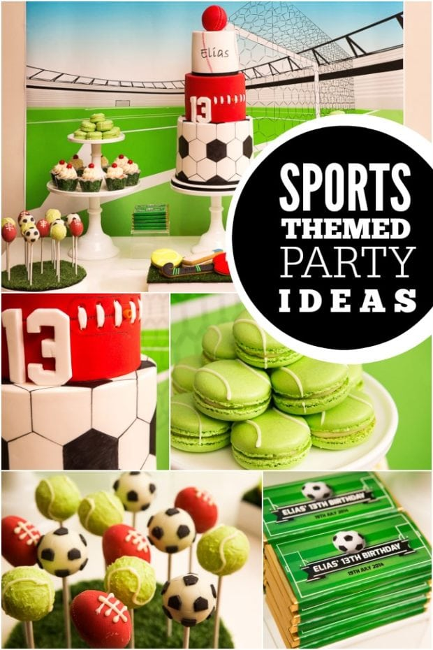 All-Star Sports Boy Birthday Party  Spaceships and Laser Beams