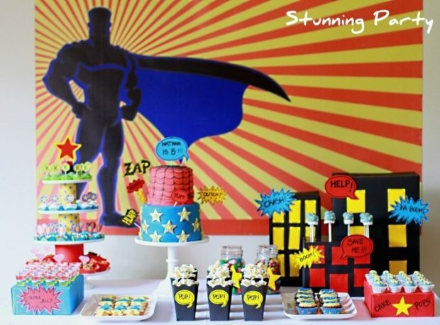 Dinosaur Food in addition Superhero Parties That Are Amazing together with Black And Gold Wedding Table Decorations besides Sweets treats together with Superhero Birthday Party. on table decorations ideas in hollywood theme