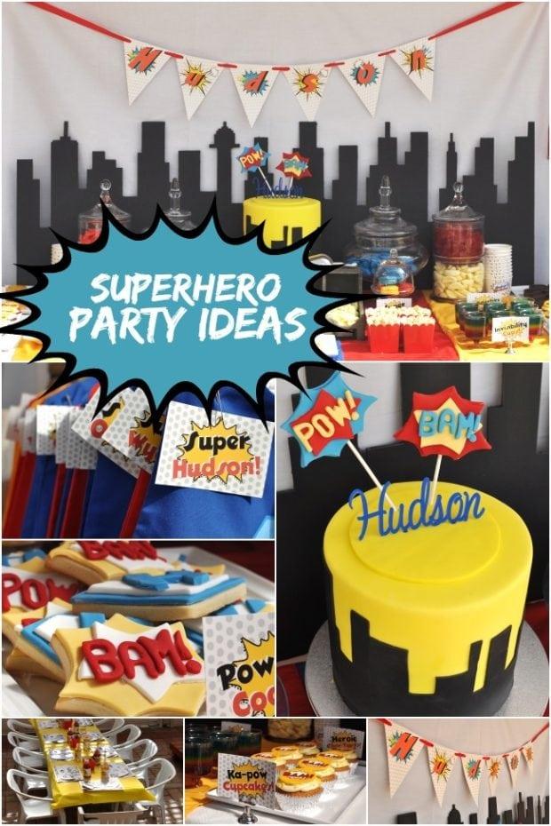 Ka Pow A Boy S Super Hero Themed Birthday Party