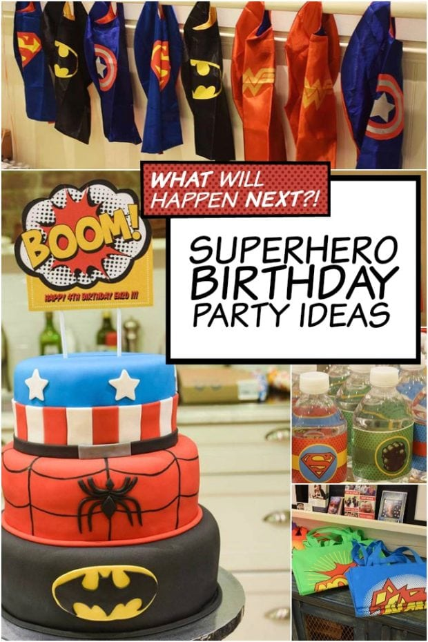 A Thrilling Super Hero Birthday Party Spaceships And