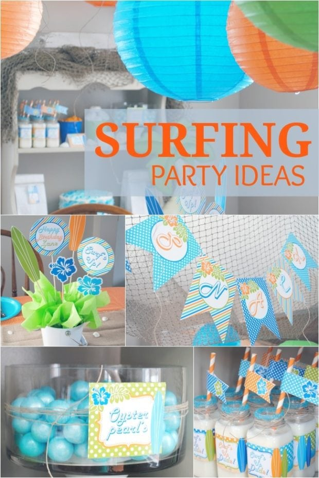 Surf S Up A Budget Friendly Boy Surfing Birthday Party