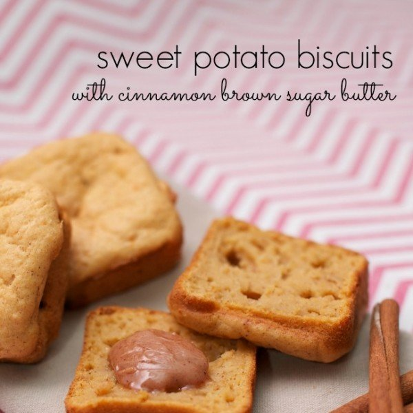 Sweet Potato Biscuits With Cinnamon Brown Sugar Butter